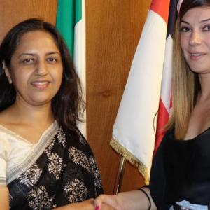 Opportunities for Sardinian companies, meeting between the Minister for Industry Anita Pili and the Indian ambassador Reenat Sandhu